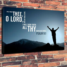 """Christian Quote Religion Printed Box Canvas Picture A1.30""""x20""""30mm Deep Wall Art"""