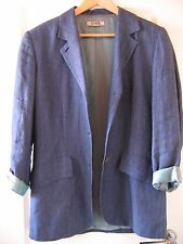 Damen-Jacket, Longjacket, Leinen, Cinque, blau, Top Zustand, Gr. M
