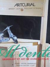 """Catalogue de vente Artcurial DESIGN Italien """"Al dente"""" Oeuvres de Enzo Mari"""