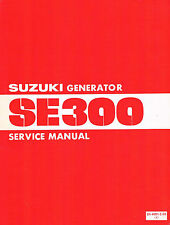 Official SUZUKI generator SE300 Service Manual -1980