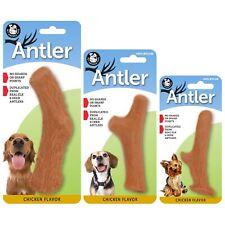 Pet Qwerks Chicken Flavor Infused Nylon Antler Dog Chew Toy Medium