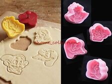 Lovely Snow White Decorating Cutters Cookie Cake Plunger Biscuit Craft Tool Set