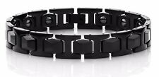 Men's Link TUNGSTEN CARBIDE Bracelet - BLACK IP -  HOT NEW STYLE - SCRATCHPROOF
