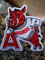 """Arkansas Razorbacks vintage IRON ON PATCH 3"""" x 3"""" Hogs"""