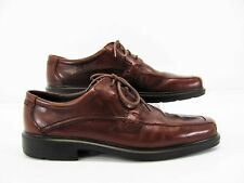 Ecco Berlin Men Brown Leather Oxford Dress Shoe 48  14M Pre Owned #LH