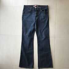 Gap Women Sz 12L Jeans Denim Curvy Flare Cotton Stretch Blend