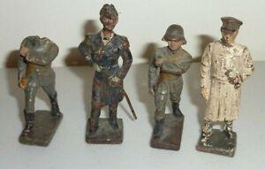 lineol germany soldiers salute general sword vintage antique elastolin