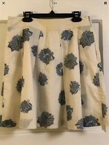 See by Chloe Ivory blue pleated Skirt with Pockets Size 4