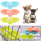 cat dog cage hanging bowls pet feeding bowls firm thick pet food double bowl LJ