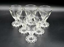 Set of 6 Vintage Anchor Hocking Clear Boopie Cordial/Juice Glasses