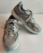 Women's Skechers GO RUN CONSISTENT 128075W GYTQ Grey-Turquoise Lace-Up Shoes