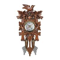 Vintage Alarm Wooden Cuckoo Clock Swing Art Wall Hanging Clock Home Decor Crafts