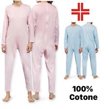Pigiama Sanitario ESTIVO Tutone Intero cotone Leggero zip posteriore apertura