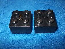 LEGO DUPLO RITTERBURG 2 X 4er NOPPEN STEIN 4777 + 4988 + 4785 ERSATZTEIL SCHWARZ