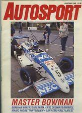 AUTOSPORT OTT 13th 1988 * 1000 KM FUJI & Rally San Remo *