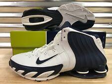 579c5ca84ae7f6 Nike Shox Flight Lethal TB 2005 Shoes VC White Navy Blue Sz 11.5 ( 311739-