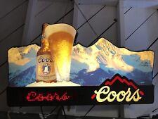 Vintage Rare Coors Original Beer Mountain Range Light Up Sign w/ Rolling Words