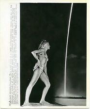 1969 Bikini Swimsuit Women's Fashion Press Photo Delta Rocket Contrail