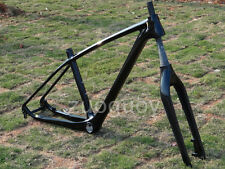 "UD Carbon Glossy Mountain Bike 27.5ER 650B MTB Frame 17"" BB30 + Fork FR501"