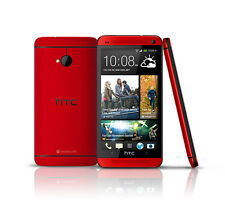 Unlocked Smartphone 4.7'' New HTC One (M7) GSM 3G 32GB Android OS NFC - Red