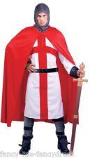 Hommes Anglais Chevalier st George Médiéval Historique Costume Déguisement
