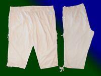 Damen Freizeithose Caprihose Hose 3/4 lang Sommerhose Übergröße Gr. 58 5 XL