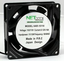 Cooling Fans 80x80x25mm 110 Volts Metal