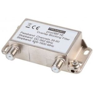 TV Signal Overlap Blocking Bandpass Interference Filter 39 - 60 Channels 100578