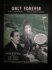 Only Forever Sheet Music Vintage 1940 Rhythm On The River James Monaco Voice (O)