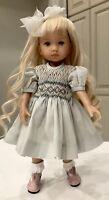 "10"" Doll Boneka Dianna Effner Tuesdays Child smocked Dress 24cm Sld7"