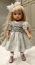"10"" Doll Boneka Dianna Effner Tuesdays Child smocked Dress 24cm sld4"