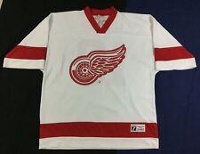 Vintage Detroit Red Wings Steve Yzerman #19 Hockey-NHL Logo7 Jersey SizeXL