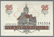 Notgeld - Stadt Verden a. Aller - 25 Pfennig - 1920