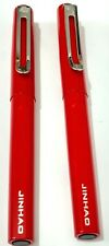 2 x ELEGANT JINHAO RED METAL PENS- FOUNTAIN PEN AND ROLLER BALL PEN
