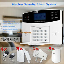 Wireless LCD GSM SMS Home Security Burglar House Fire Alarm System Auto Dialer #