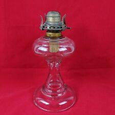 "Glass Oil Lamp No. 1 White Flame Light Co. Burner 11"" Tall 5-1/2"" Base - Lot #5"