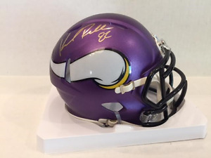 Kyle Rudolph Signed Minnesota Vikings Speed Mini Helmet COA & Hologram