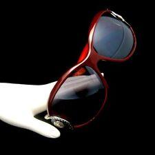 Authentic VERSACE Italy Large Sunglasses Brown Gray Rare 80s Medusa Glamorous