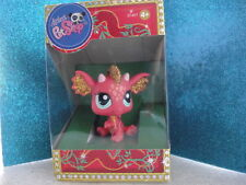 new Littlest Pet Shop LPS Red Glitter Dragon Chinese New Year #2484 , HTF Rare