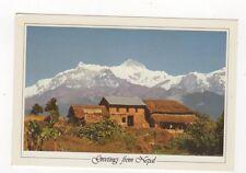 Greetings From Nepal Mt Annapurna & Pokhara 1990 Postcard 474a