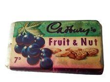 More details for original vintage cadbury's fruit and nut chocolate bar. unopened.