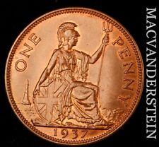 Great Britain: 1937 One Penny - George VI - Scarce  High Grade  #NR8369