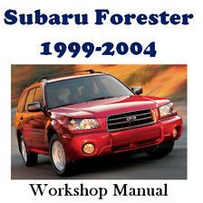 SUBARU FORESTER 1999 - 2004 WORKSHOP SERVICE REPAIR MANUAL DIGITAL DOWNLOAD