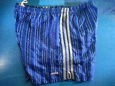 Adidas Vintage Soccer Shorts 3-Stripe Royal & Silver Stripe - Medium