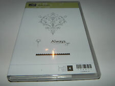 Stampin Up Always Elegant CLEAR Mount Stamp Set of 4 NEW