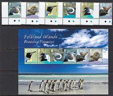 FALKLAND ISLANDS: 2008 Breeding Penguins  set + Min.Sheet 1120-5+MS1126 MNH