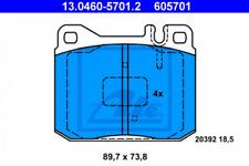 Bremsbelagsatz, Scheibenbremse für Bremsanlage Vorderachse ATE 13.0460-5701.2
