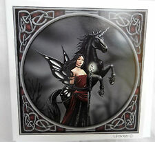 Lisa Parker Greetings Card - Dark Fairy and Unicorn - BNIB
