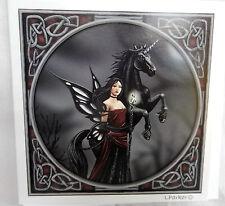 Lisa Parker Greetings Card - Dark Fairy and Unicorn - BNIB