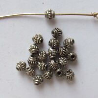 Small Bali Sterling Silver Collared Wire Coil Rondelle Beads - 3x4 mm - 10 PCS